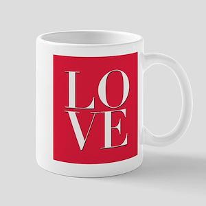 Love (red square) Mug