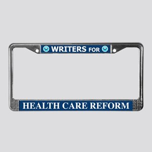 Writers Health Care Reform License Plate Frame