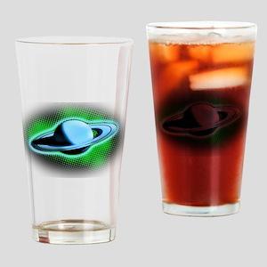 Flying Saturn Drinking Glass