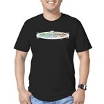 Ophelia In The Water Men's Fitted T-Shirt (dark)