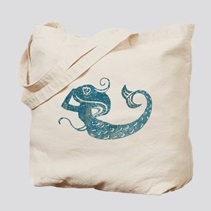 Worn Mermaid Graphic Tote Bag