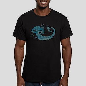 Worn Mermaid Graphic Men's Fitted T-Shirt (dark)