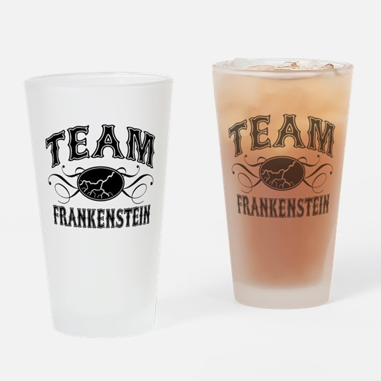 Team Frankenstein Drinking Glass