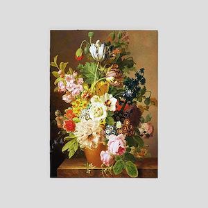 Jean-Francois van Dael Flower Bouquet 5'x7'Area Ru