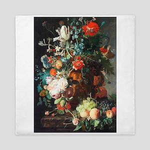 Jan Van Huysum Flower Bouquet Queen Duvet