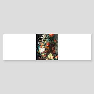Jan Van Huysum Flower Bouquet Sticker (Bumper)
