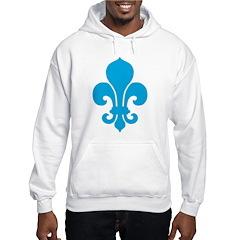Blue Fleur De Lis Hoodie