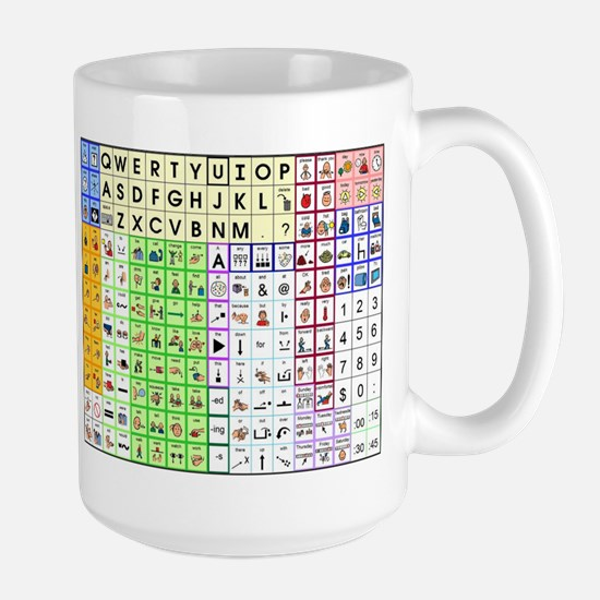 aac spelling and core Large Mug
