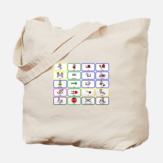 20 Core Words Communication Board Tote Bag