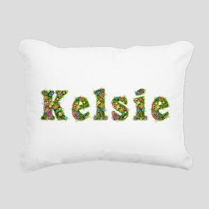 Kelsie Floral Rectangular Canvas Pillow