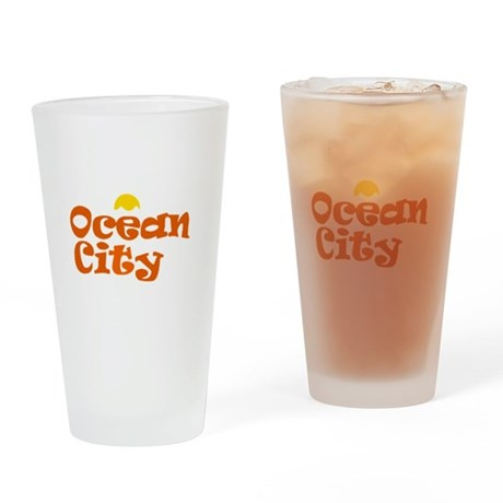 Ocean City NJ. Drinking Glass