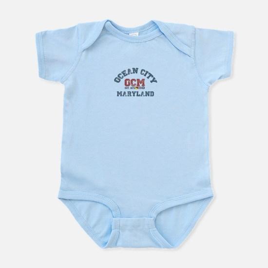Ocean City MD - Nautical Design. Infant Bodysuit