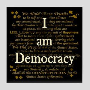 I am Democracy Tile Coaster