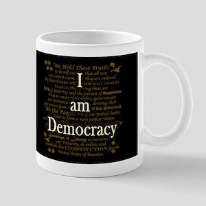 I am Democracy Dark Mug