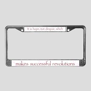 Hope Not Despair V1 License Plate Frame