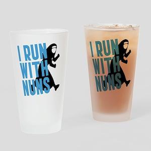 I Run With Nuns Drinking Glass
