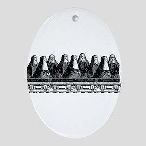 Nun Train Ornament (Oval)