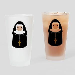 Cute Nun Drinking Glass