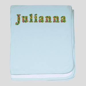 Julianna Floral baby blanket
