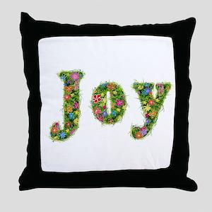 Joy Floral Throw Pillow