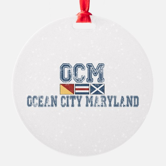 Ocean City MD - Nautical Design. Ornament