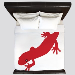 Red Salamander King Duvet