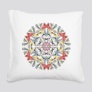 Birds Birds Birds Square Canvas Pillow