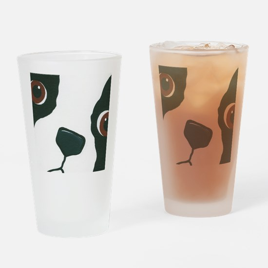 Cute Moon face Drinking Glass
