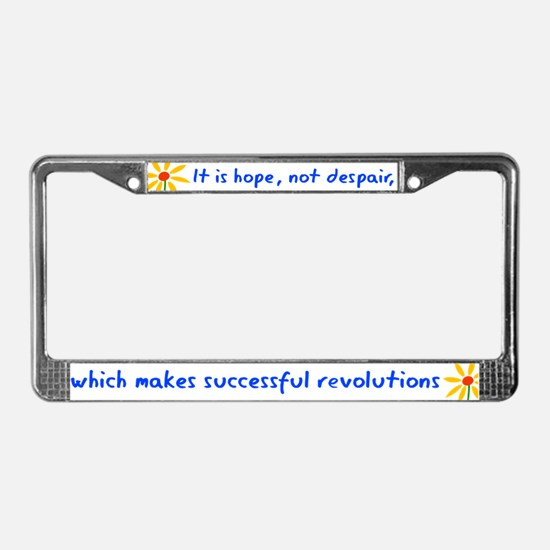 Hope Not Despair V3 License Plate Frame
