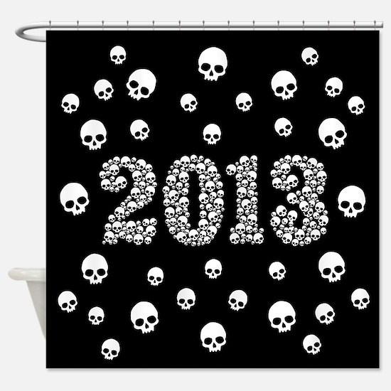 Skulls 2013 Shower Curtain