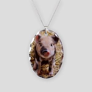 Piglet Necklace Oval Charm