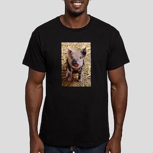 Piglet Men's Fitted T-Shirt (dark)