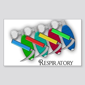 Respiratory Therapy Sticker (Rectangle)