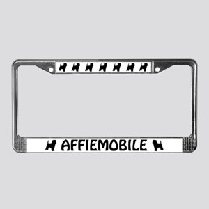 Affiemobile (Affenpinscher) License Plate Frame