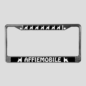 Affiemobile (Afghan Hound) License Plate Frame