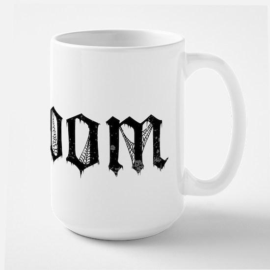 Gothic Text Groom Large Mug