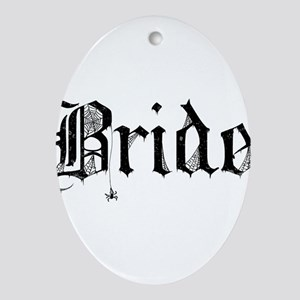 Gothic Text Bride Ornament (Oval)