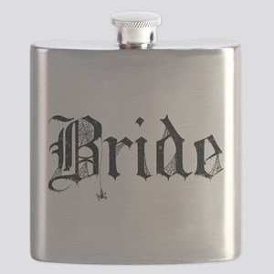 Gothic Text Bride Flask