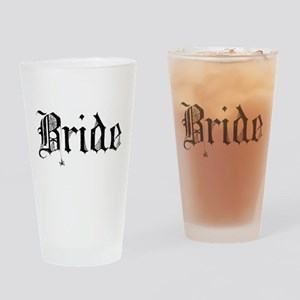 Gothic Text Bride Drinking Glass