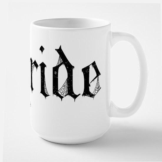 Gothic Text Bride Large Mug