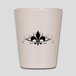 Fleur De Lis Shot Glass