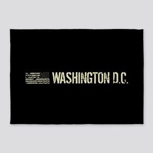 Black Flag: Washington D.C. 5'x7'Area Rug