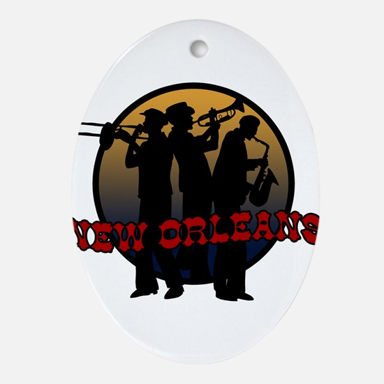 New Orleans Jazz Players Ornament (Oval)