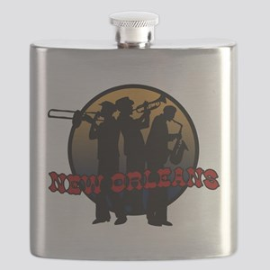 New Orleans Jazz Players Flask
