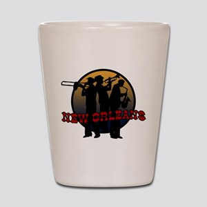 New Orleans Jazz Players Shot Glass