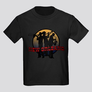 New Orleans Jazz Players Kids Dark T-Shirt
