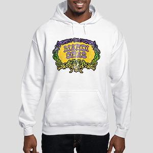 Retro Mardi Gras Hooded Sweatshirt