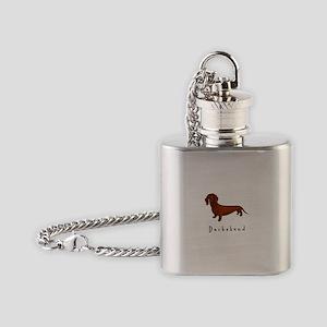 Dachshund Illustration Flask Necklace