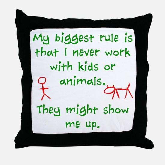 Kids or animals Throw Pillow