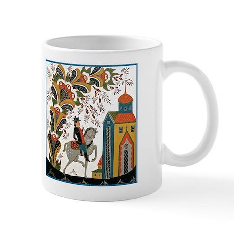 Horseman riding by Mug